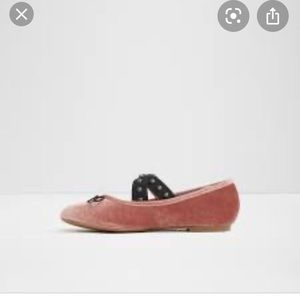 Aldo Mayeaux Flat Pink Velvet With Black Accents